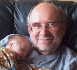 Grant McFadden with his grandson
