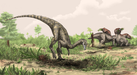 Nyasasaurus parringtoni: If not the grandmother of all dinosaurs, certainly a cousin close enough to bring on an extended vacation. Image (c) 2012 Natural History Museum, London and Mark Witton, and available here.
