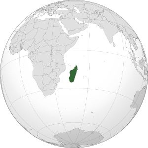 The Lonely Island of Madagascar - map by Addicted04, CC-BY.