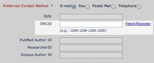 ORCID in PLOS Submission System